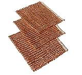 Joerns Messevertrieb Set mit 10 Stück Kupfertücher 14,5 x15 cm Kupferlappen - Kupfertuch