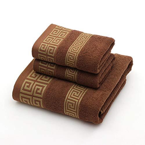 CXBHB Asciugamano da Bagno in Cotone 100% Confezione Regalo Set da Tre Pezzi Completo da Lavoro Morbido e Assorbente (1 Asciugamano + 2 Asciugamani)