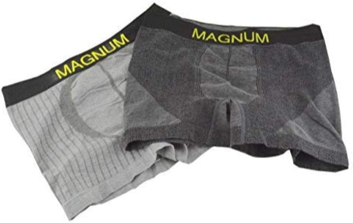 Sierra Men's 2 Pack Soft Charcoal Cotton Boxer Briefs Breathable Underwear (X-Large, Grey/Charcoal)