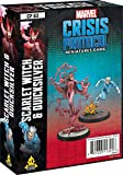 Marvel Crisis Protocol – Scarlet Witch and Quicksilver   Marvel Miniatures Game   Strategy Game for Teens & Adults   Ages 14 and up  2 Players   Average Playtime 45 Minutes   Made by Atomic Mass Games