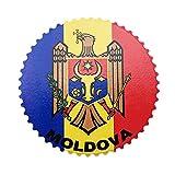 Weekino Flagge Moldawien Kühlschrankmagnet 3D Polyresin Touristische Stadtreise City Souvenir Collection Geschenk Starker Kühlschrank Aufkleber