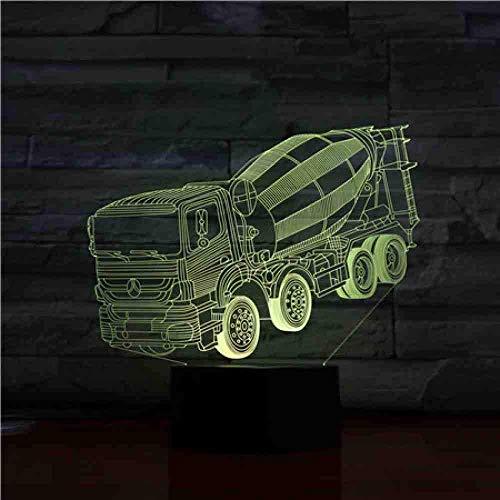 Led Nachtlicht Beton Rührer Mixer Truck 3D Illusion 7 Farbwechsel Kinder Baby Nachtlicht Geschenke Tischlampe Schlafzimmer