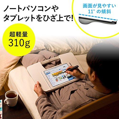 サンワダイレクトひざ上テーブルノートPC/タブレット用15.6型対応軽量310gクッション付きブラック200-HUS005BK