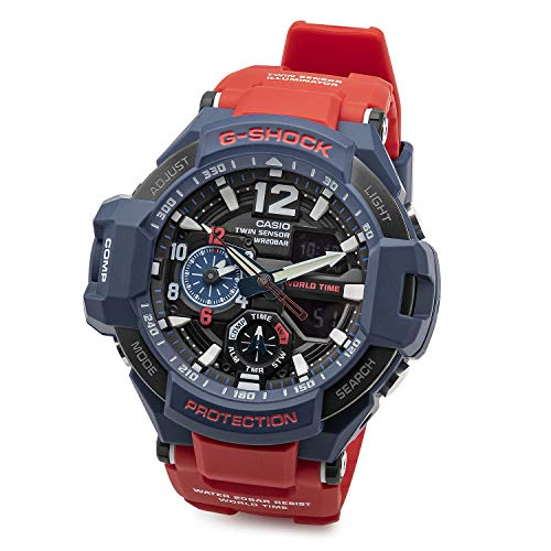 Casio G-Shock GA-1100 Gravitymaster Stylish Watch - Blue / One Size