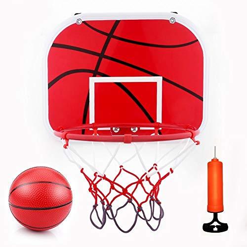 Dirgee Mini Conjunto de aro de Baloncesto, Tablero de Baloncesto de Juguete de Baloncesto con Bola y Bomba para niños Juguete