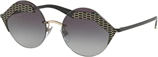 Bvlgari BV6089 Sunglasses Matte Black Pale Gold w/Grey Gradient 55mm Lens 20288G BV 6089 Bulgari