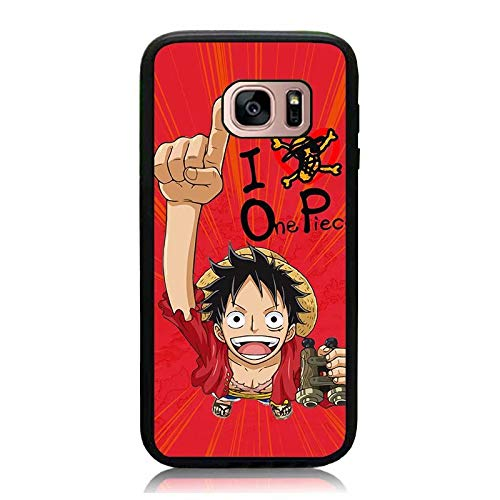 Galaxy S7 Edge Case, Anime One Piece Luffy Back Cover Soft TPU & Hard Back Slim Fit Shock Drop Proof Impact Resist Protective Case for Samsung Galaxy S7 Edge
