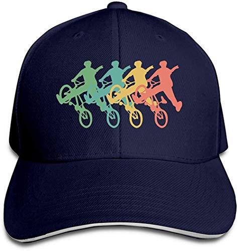 ZYZYY - Berretto da baseball unisex, stile retrò, BMX, con visiera regolabile