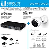 Ubiquiti Unifi Network Video Recorder UVC-NVR-2TB w/ Much Larger 2TB Hard Drive + UniFi Video UVC-G3 1080p Indoor/Outdoor IP Camera with Infrared