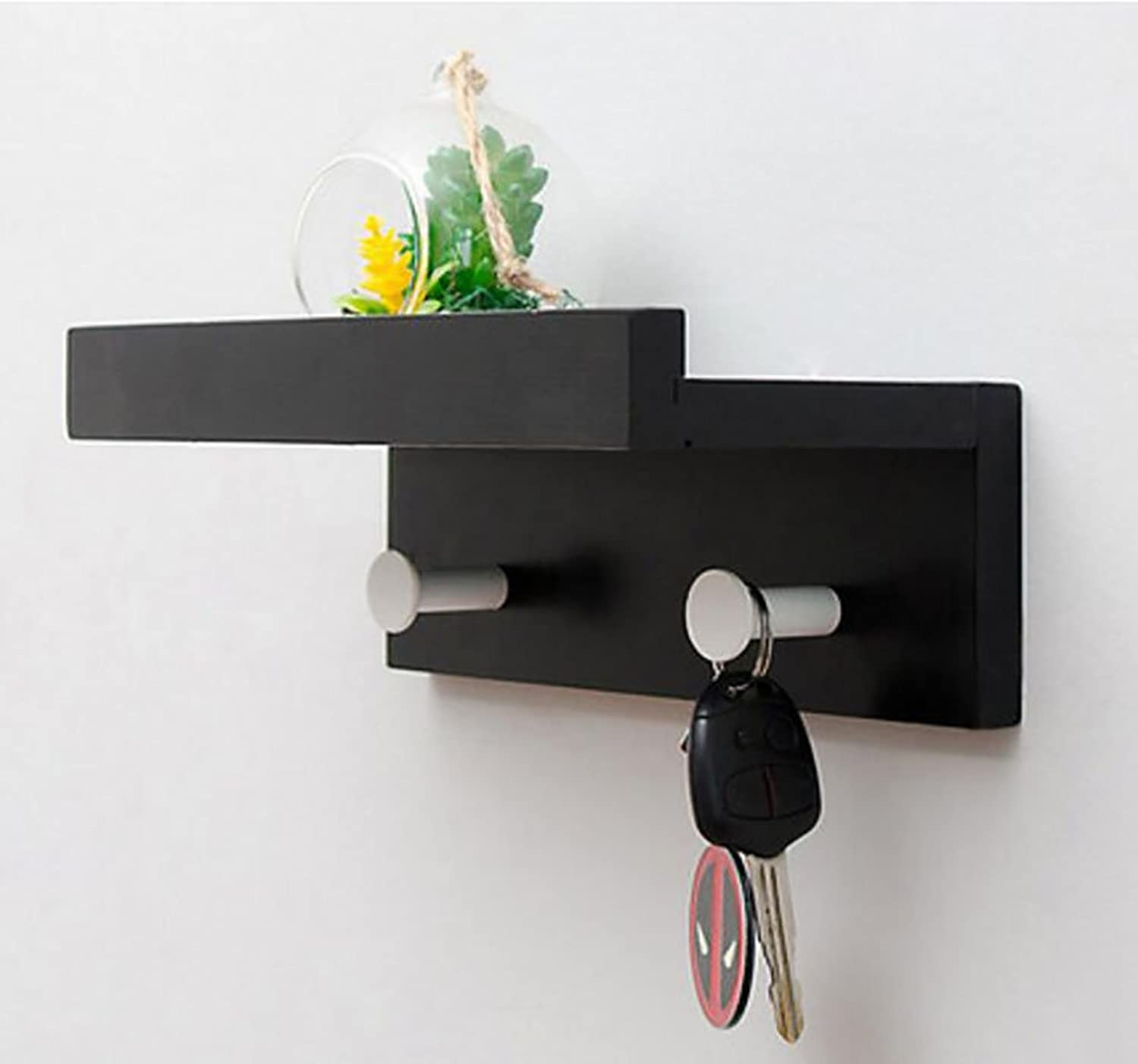 Entrance Clothes Hooks Shelf Walls Creative Clothes Hooks Wall Hangers Wall Hooks Hooks (Size   L22.7w12h8cm)