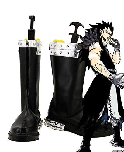 Telacos Fairy Tail Gajeel reitfox Cosplay Schuhe Stiefel Custom Made, Herren, schwarz