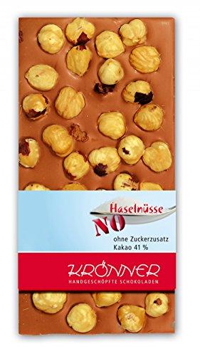 Krönner   Haselnüsse - No Sugar, Vollmilch-Schokolade