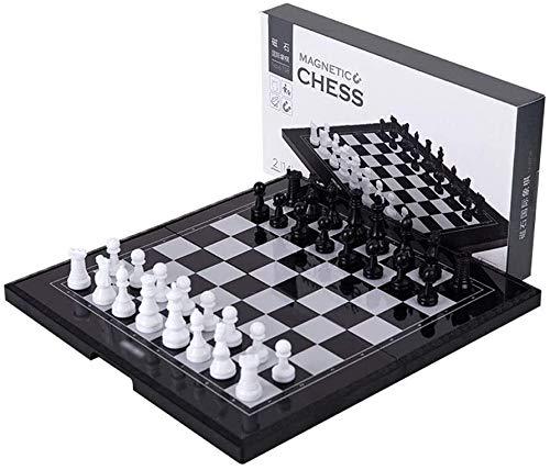 Juego de Ajedrez Tablero de Ajedrez Ajedrez conjunto de ajedrez de ajedrez de ajedrez, con piezas magnéticas artesanales, con juguetes educativos de placa de ajedrez plegable Fiesta de la Familia para