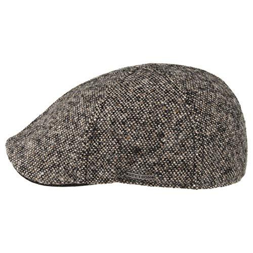Stetson Casquette Texas Donegal Homme - pour l'hiver Casquettes avec Visiere, Doublure Automne-Hiver - L (58-59 cm) Noir