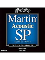 Martin: SP4200 Phosphor Bronze Acoustic Guitar Strings - Medium. Pour Guitare Acoustique
