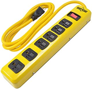 Yellow Jacket 5139N Metal Power Strip with 6 Outlets and 6 Foot Cord