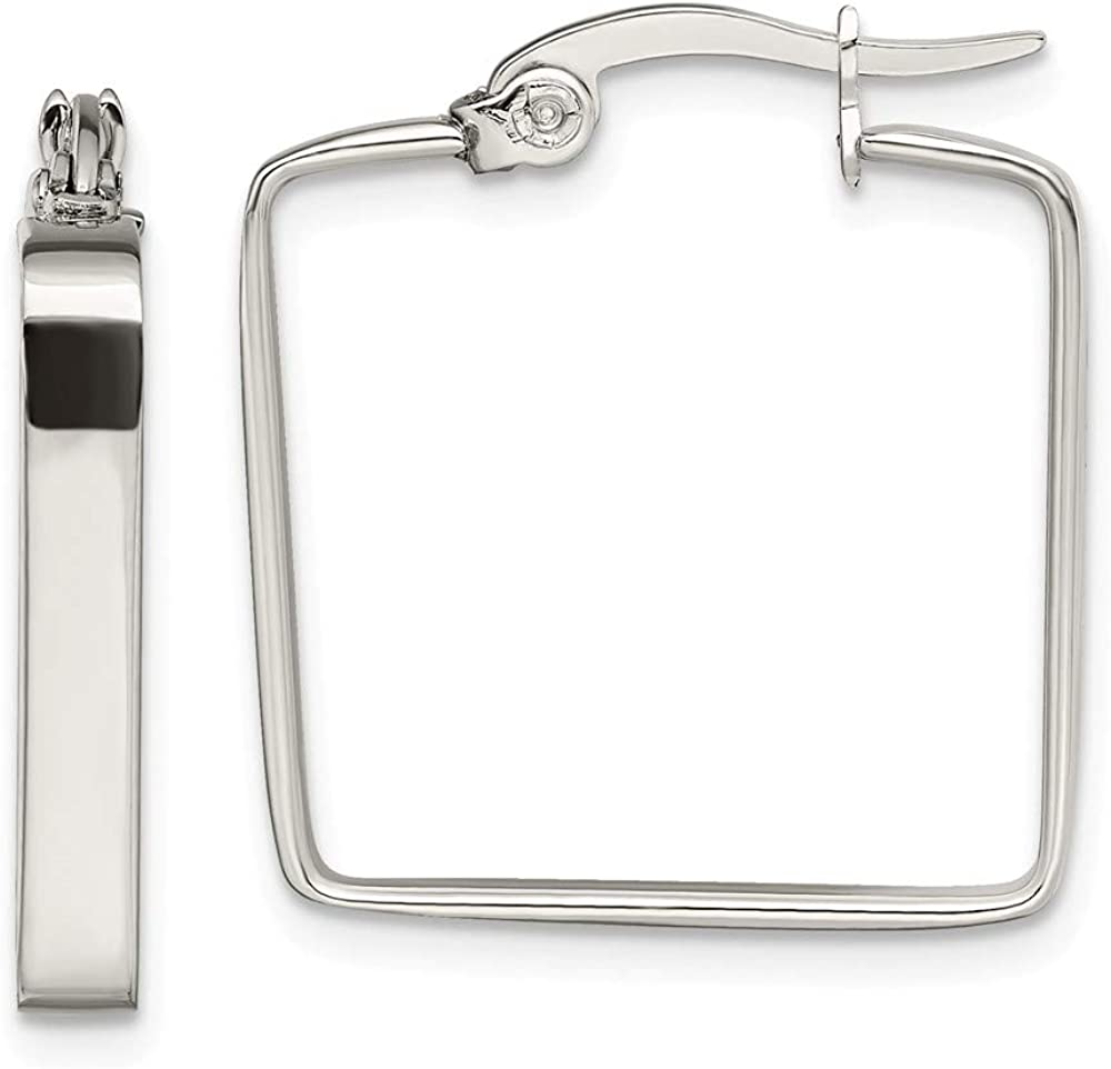 Stainless Steel 20mm Square Hoop Earrings Ear Hoops Set Fashion Jewelry For Women Gifts For Her