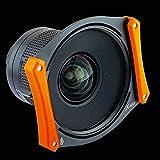 Bombo X100 - Soporte de Filtro para Irix 15 mm f/2,4 + ADR95/S (2 filtros de 100 mm sin vigorizar), Color Naranja