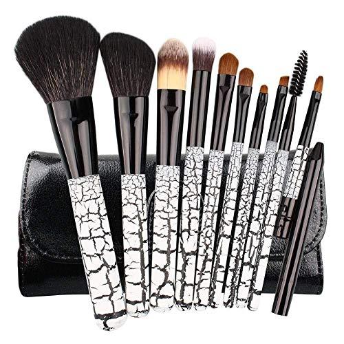 Set cosmétiques Brosses outil Jeu de 10 pinceaux de maquillage for la beauté | 10 pinceaux de maquillage for fards à paupières Foundation Blush avec le pack de pinceaux en PU Outil de maquillage parfa