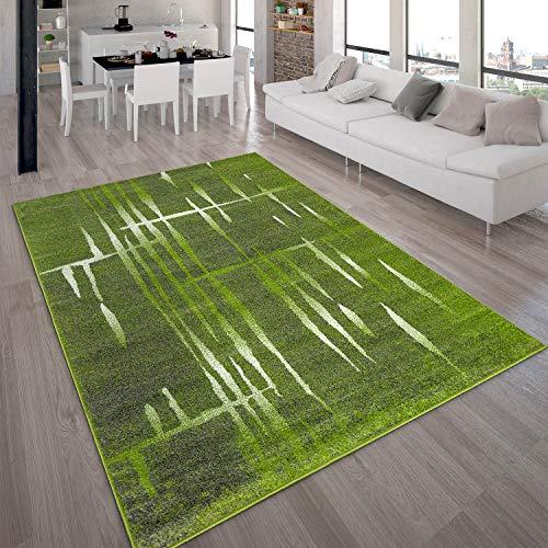 Paco Home Designer Teppich Modern Trendiger Kurzflor Teppich Meliert in Grün Weiß, Grösse:160x220 cm