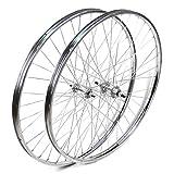 OldNewBikes Ruedas Delantera y Trasera Westrick 28 x 1 ½ de Acero Cromado para Bicicleta clásica