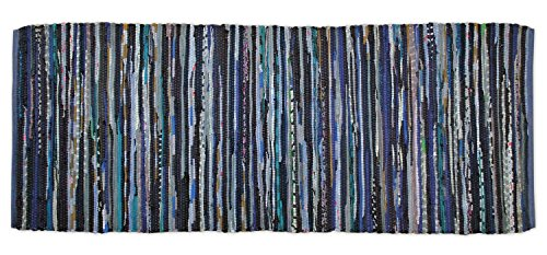 DII Chindi Collection Handmade Rag Rug, Colors May Vary, 2 3 x 6, Nautical Blue, 1 Piece