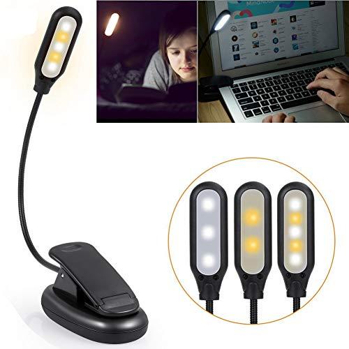 GKJRKGVF 1 stuk leeslamp slaapkamer bureau clip lichten 5 LED boek licht eenvoudig clip op leeslampen om te lezen oogverzorgingslampen