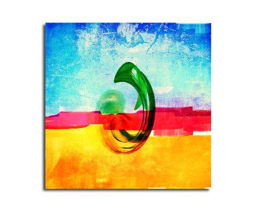 Moderne abstrakt036_60 x 60 cm sur toile motif abstrait intérieur décoration indémodable, 047