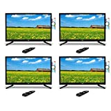 Pyle 40 Inch Widescreen 1080p LED HD TV Television with Built In Multimedia DVD/CD Disc Player, Stereo Speakers, Remote Control, HDMI & RCA Input, and Sleep Timer, Compatible with Mac & PC (4 Pack)