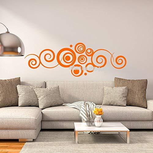Creativo Convencional Fantasía Tatuajes de pared Personalidad Círculo Patrón de vinilo para la sala de estar Dormitorio Decoración para el hogar Arte papel tapiz 87X30CM