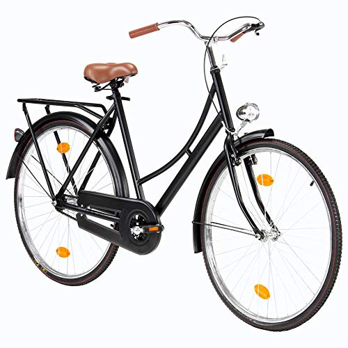 Fahrrad Citybike 28 Zoll Dutch Bike Hollandrad CTB Vintage Damenfahrrad Jungenfahrrad Singlespeed Fahrrad mit Frontlicht Retro City Bike Cityrad Cityfahrrad DamenradHerren Damen Bike【DE Lager】