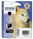 Epson T0961 Cartuccia a Getto d'Inchiostro Pigmentato, Nero Fotografico, con Amazon Dash Replenishment Ready