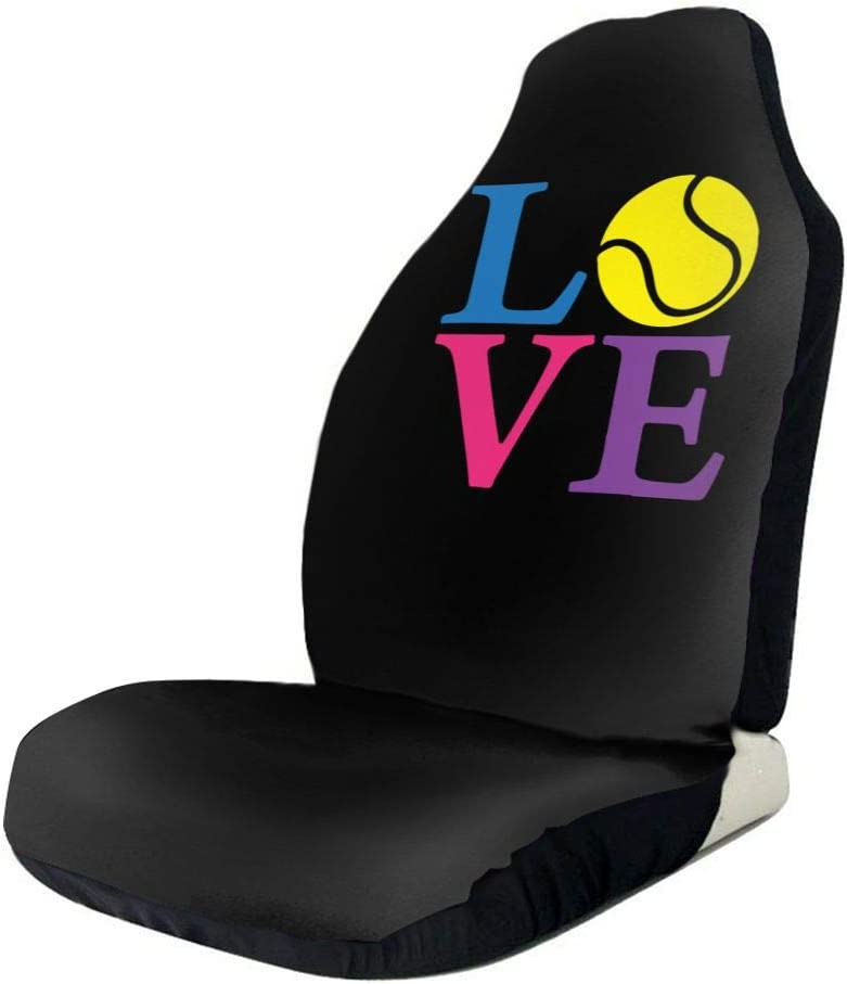 POI78 Tennis Love Colorful Fashion Sign Du Covers Full Seat New products Free shipping world's highest quality popular Auto
