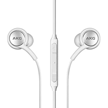 AKG - Auriculares estéreo para Samsung Galaxy S10, S10e S10 Plus, diseño de AKG, color blanco