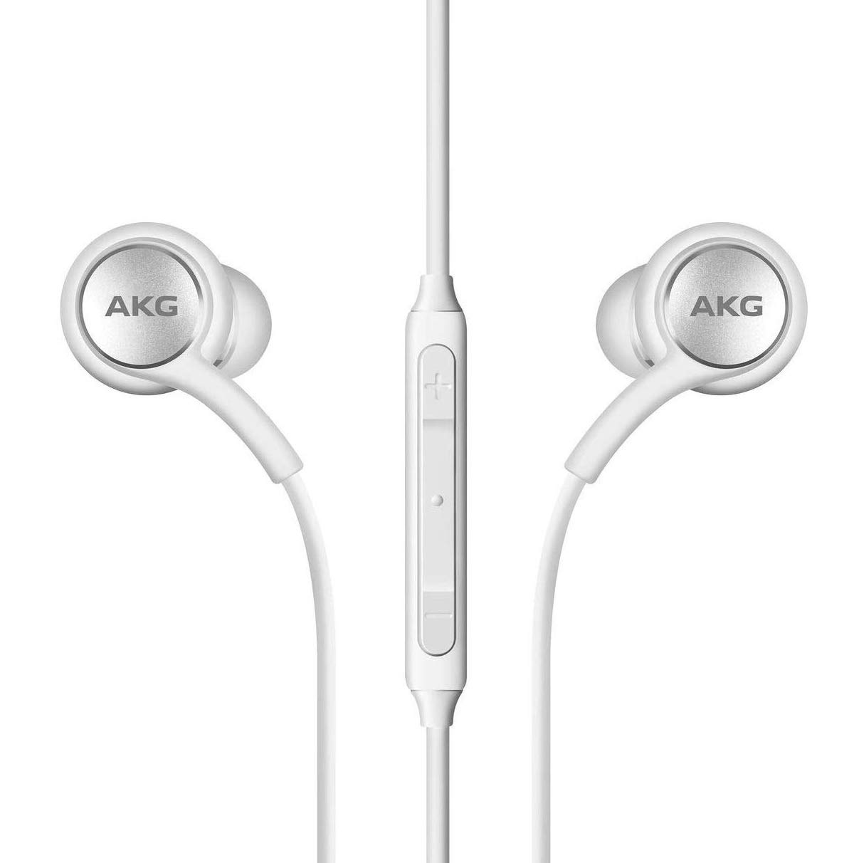 Amazon Com 2019 Stereo Headphones For Samsung Galaxy S10 S10e S10 Plus Designed By Akg With Microphone White Electronics