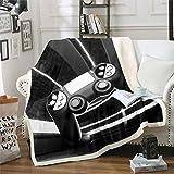 Loussiesd Manta de forro polar de Gamepad para videojuegos, Gamepad, manta de felpa para sofá, cama, decoración de habitación, moderna y moderna para mando de juego, manta de 127 x 152 cm