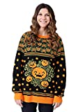 Adult Pumpkin Patch Ugly Halloween Sweater - L