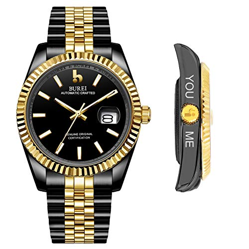 BUREI Men's Custom Personalized Automatic Watch Analog Dial with Date...