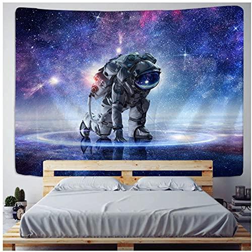 Tapisserie by BD-Boombdl Astronaut Tapisserie Wandbehang Kosmos Bunte Weltraum Polyester Druck Tagesdecke Planetarische Matratze Zimmer Dekor 59.05