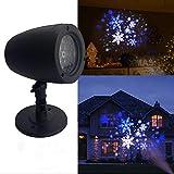 LED-Schneeflocken-Weihnachtsscheinwerfer, Projektionslampe im Freien wasserdichte Innenbeleuchtungs-Weihnachtsfeiertags-drehende Schneefall-Scheinwerfer-Hochzeits-Landschafts- und Gartendekoration (2)