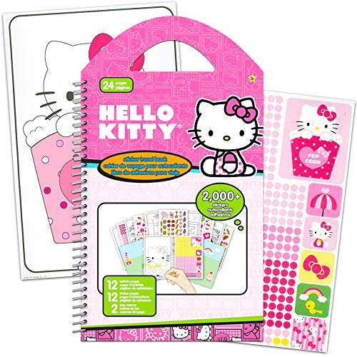 Hello Kitty Stickers Travel Activity Set With Over 2000 Stickers and 12 Activity Pages Plus Bonus Reward Sticker (Hello Kitty Party Supplies)