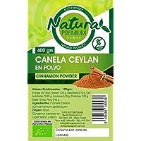 Natura Premium Canela Ceylan en Polvo, 400g, Pack de 1