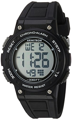 Armitron Sport Women's 45/7086BLK Digital Chronograph Black Resin Strap Watch