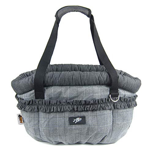 Alfie Pet - Emma Pet Carrier - Color: Grey Plaid