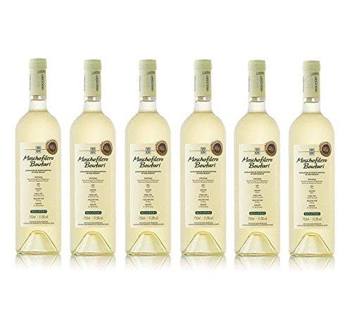 6x 750 ml Moschofilero trockener Weißwein aus Griechenland Weiß Wein trocken + Probiersachet 10 ml Olivenöl aus Kreta