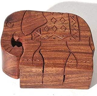 wood elephant puzzle