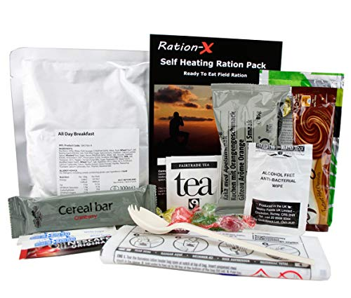 Self Heating Field Ration Pack Ready to Eat Meal Menu A
