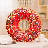 HNLHLY EIN Donut Kissenbezug Plüsch Kissenbezug Donut Muster Abdeckung 45 * 45cmtravesseiro-8