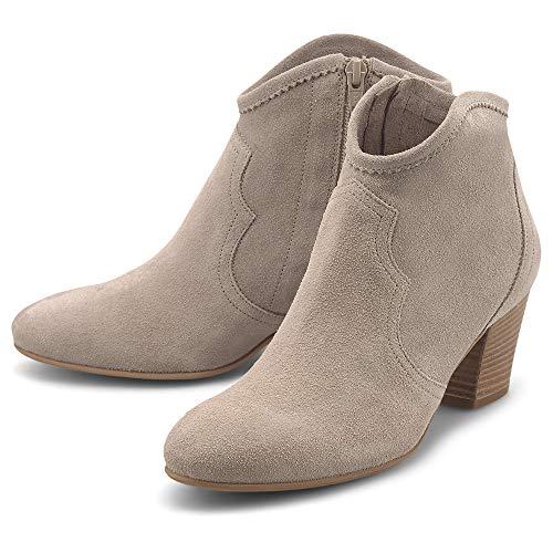 Belmondo Damen Trend-Boots Beige Rauleder 39