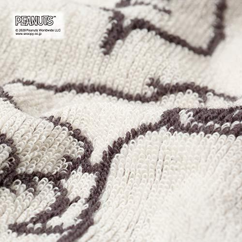 西川リビングスヌーピー枕カバーPEANUTSのびのびタオル地抗菌伸縮タイプふわふわSP5416クリーム227440070